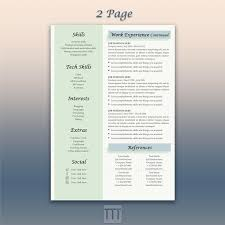 Google Doc Resume Template Modern Blue Resume Creative Resume And Cover Letter Template Google