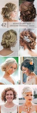 Short Wedding Hairstyles 16 Wonderful Short Hair Wedding Styles Fortelliformen