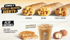 taco bell breakfast. Perfect Breakfast Taco Bell Tests 3 Breakfast Meal Deal Throughout T