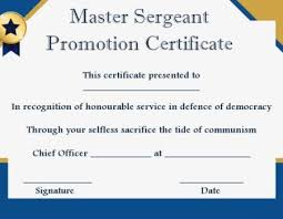 certificate of promotion template msgt promotion certificate template promotion certificate template