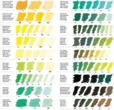 Sennelier Artists Soft Pastels Singles Colour Chart
