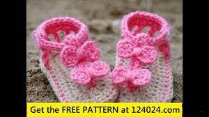 Free Crochet Patterns For Baby Sandals Magnificent Design Ideas