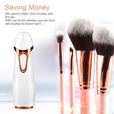 electric makeup brush cleaner wash and dry in seconds improve skin health save time