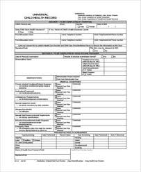 Personal Health Record Forms Free 8 Sample Health Record Forms In Pdf Word