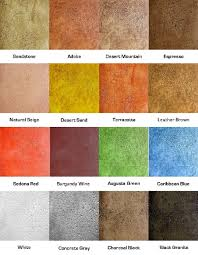 Environmental Green Products Soycrete Color Chart