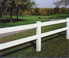 Vinyl Post Rail Fence Styles Heartland Fence Peoria IL