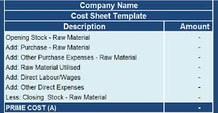 Job Sheet Templates Custom Download Cost Sheet With COGS Excel Template ExcelDataPro
