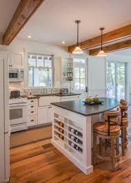 Stone Countertops Kitchen Island Wine Rack Lighting Flooring Backsplash Cut  Tile Glass Oak Wood Bright White Madison Door Sink Faucet