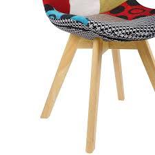 Esszimmerstühle Aus Leinen Holz Im Multifarbig Bh29mf 2