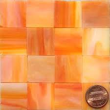 orange stained glass mosaic tiles burnt 2