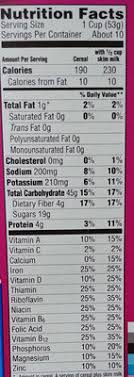 raisin bran crunch nutrition facts raisin bran crunch nutrition facts