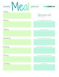 Excel Weekly Meal Planner Weekly Meal Planner Fresh Template With Grocery List Menu Excel