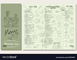 Tea Restaurant Menu Template