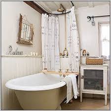 free standing tub shower curtain rod unconvincing clawfoot curtains ideas home interior 15