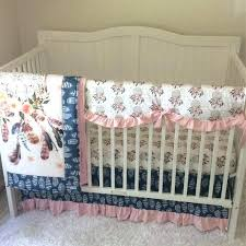 baby nursery boho baby nursery bedding girl crib set in blush pink navy denim blue