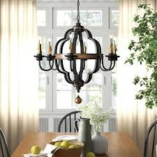 6 light chandelier oil rubbed bronze birch lane
