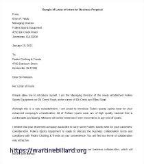 Partnership Letter Template Proposal Sample Printable