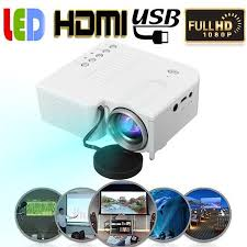 Portable Full HD Projector 1080P Multimedia <b>Home LED</b> Theater ...