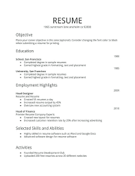 Resume Format Examples Enchanting Free Resume Samples For Freshers Packed With Resume Format Examples