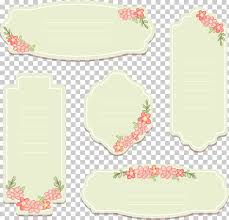 Tag Template Hand Painted Vintage Decorative Labels Five