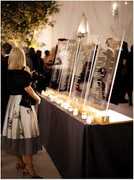 The Sinclair Seating Chart Acrylic Seating Display For Escort Cards By Sinclair And