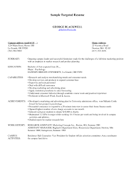 Targeted Resume Cover Letter Targeted Resume Template Word Yun60co Targeted Resume Template 6