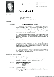 Pdf Format Resume Professional Resume Formats Templates Format For