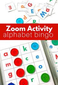prek zoom activity alphabet bingo