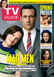 tv guide. cover photo of elisabeth moss and jon hamm by jeff lipsky for tv guide magazine tv f
