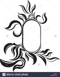 vintage frame design oval. Unusual Oval Vintage Frame For Your Design Or Tattoo. Vector Illustration E