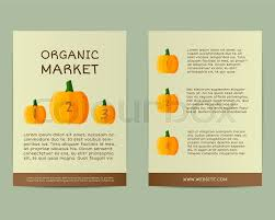 flyer companies natural business corporate identity design with pumpkin branding