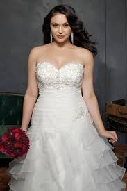 Faille Empire Waist Plus Size Wedding Dress Style 9WG3707 At Plus Size Wedding Dress Styles
