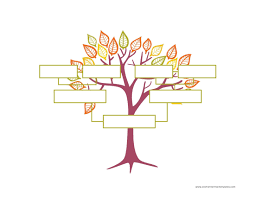 Blank Family Tree Template Free Instant Download