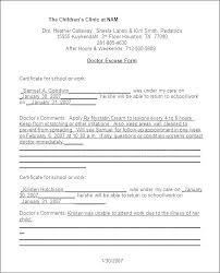Free Emergency Room Doctors Note Doctor Appointment Form Template Medical Note Hospital And