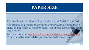 personal statement issues of length and form paper