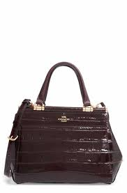 COACH Grace Croc Embossed Satchel