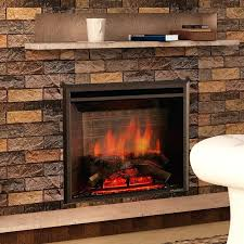 electric fireplace log insert with heater arrowflame deluxe 24 33 black 750 1500w western wall mount