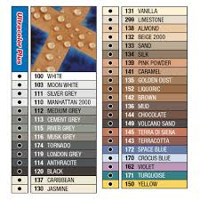 Grout Chart Mapei Ultracolor Plus Tile Grout