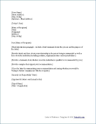 Letter Of References Examples Sample Reference Letter Template Writing A Reference