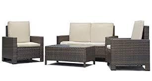 Sofa set Metal Image Unavailable Wayfair Amazoncom Patio Sofa Set Pcs Outdoor Furniture Set Pe Rattan