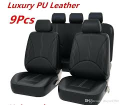 car seat cover replacement brand new black leather car seat cover full set front rear seat