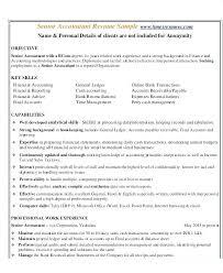 Sample Senior Accountant Resume Senior Accountant Resume Sample