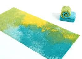 contemporary bathroom rugs abyss contemporary bath rugs in blue green yellow contemporary home bath rugs contemporary bathroom rugs