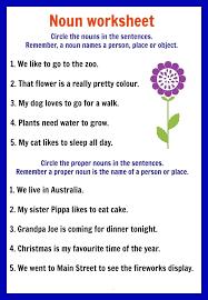 Kindergarten Nouns Worksheets Possessive Singular And Plural Free ...