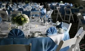 Reception Table Set Up Terrace Clavin Lake Morey Resort