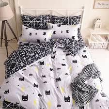 white duvet set king quality batman mask bedding set cartoon black white duvet cover bed set