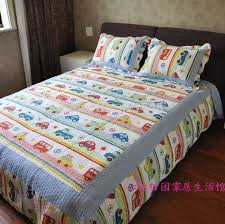 Free shipping!Discount Twin Car Truck Bus Boys Bedding Sets 2/3 ... & Discount Twin Car Truck Bus Boys Bedding Sets 2/3 Pcs Applique Patchwork  Quilt Sets 100% Cotton Bedding for Kids-in Bedding Sets from Home & Garden  on ... Adamdwight.com