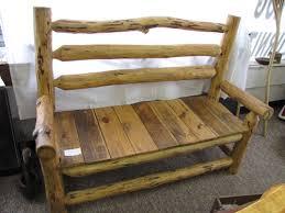 Yellow Pine Log Bench Mountain Breeze Log Furniture