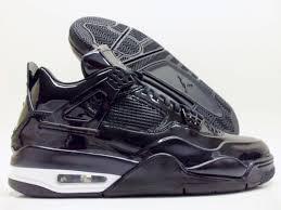 nike air jordan iv 4 retro 11lab4 black patent leather 719864 010 size 12