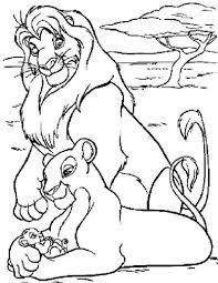 Vaak Kleurplaat Lion King Vzl26 Agneswamu